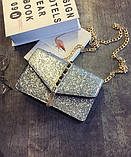 Серебристая сумка кроссбоди, фото 4