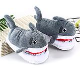 Тапочки-игрушки серые Акулы,36-39, фото 4