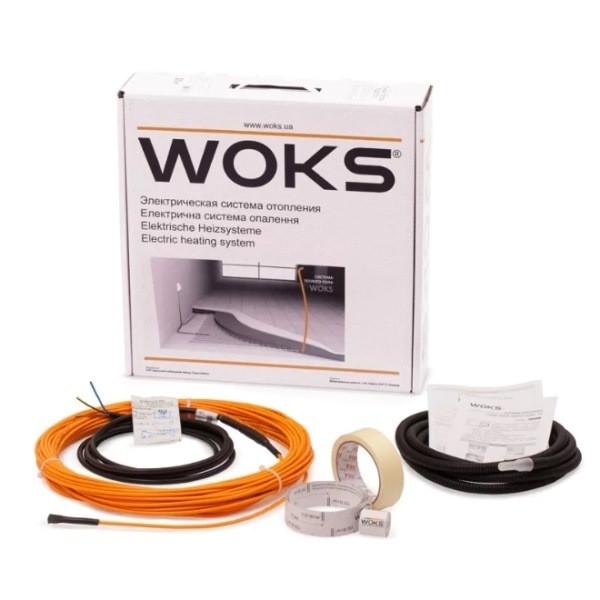 Тонкий двухжильный кабель Woks-10 500W (53м)