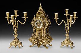 Набор Virtus Часы настольные D.Fernando + пара канделябров D.J. на 4 свечи (5160 - 4052SET)