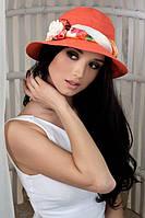 Шляпа женская летняя «Марсель роза» (коралловый)