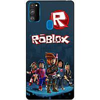 Силиконовый бампер чехол для Samsung M21 Galaxy M215f с рисунком Roblox