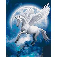 Картина раскраска по номерам на холсте  - 40*50см Идейка КН4022 Созвездие единорога
