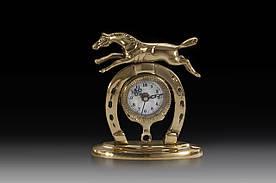 Часы настольные VIRTUS HORSESHOE 16 x 14 см 880 гр Золотистый (130018)
