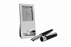Ручка перьевая и часы подарочный набор Pierre Cardin (PR2606)