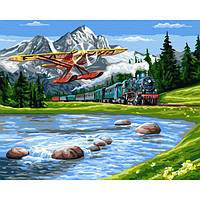 Картина по номерам, анти-стресс раскраска Mono Art Путешествие в горы (GX33234)
