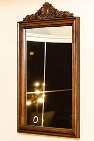 Зеркало в деревянной раме с резьбой 14
