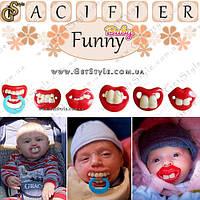 "Забавные соски-пустышки - ""Funny Pacifier"" - 1 шт."