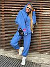 Плюшевый женский спортивный костюм с объемной свободной кофтой худи 1805897, фото 2