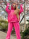 Плюшевый женский спортивный костюм с объемной свободной кофтой худи 1805897, фото 3