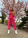 Плюшевый женский спортивный костюм с объемной свободной кофтой худи 1805897, фото 4