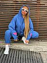 Плюшевый женский спортивный костюм с объемной свободной кофтой худи 1805897, фото 5