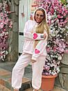 Плюшевый женский спортивный костюм с объемной свободной кофтой худи 1805897, фото 6