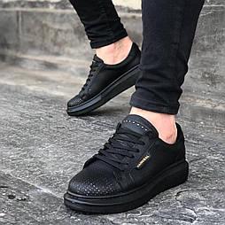 😜Кроссовки - Мужские кроссовки черные на толстой подошве