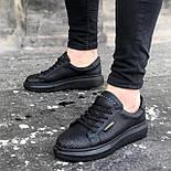 😜Кросівки - Чоловічі чорні кросівки на товстій підошві, фото 2