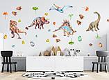 Виниловые наклейки на стену Динозавры, фото 3