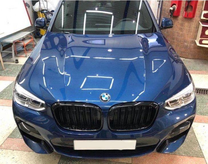 Решетка радиатора BMW X3 G01 ноздри (2017+) стиль X3M (черный глянц)