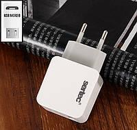 СЗУ USB SERTEC ST-1010 6W 1200mAH Fashionable CHARGER MICRO (V8) WHITE, фото 1