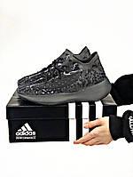 Кроссовки мужские Adidas Yeezy Boost 380 Black.Стильные кроссовки черного цвета.