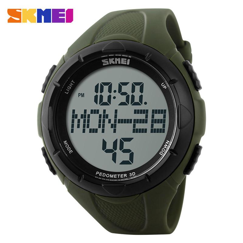 Skmei 1122 мужские спортивные часы зеленые с шагомером
