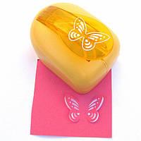 Дырокол фигурный Бабочка на листике 3D
