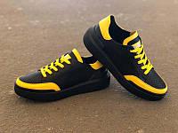 Детские летние туфли-слипоны унисекс черные 0165УКМ