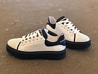 Подростковые летние туфли-слипоны унисекс белые 0166УКМ