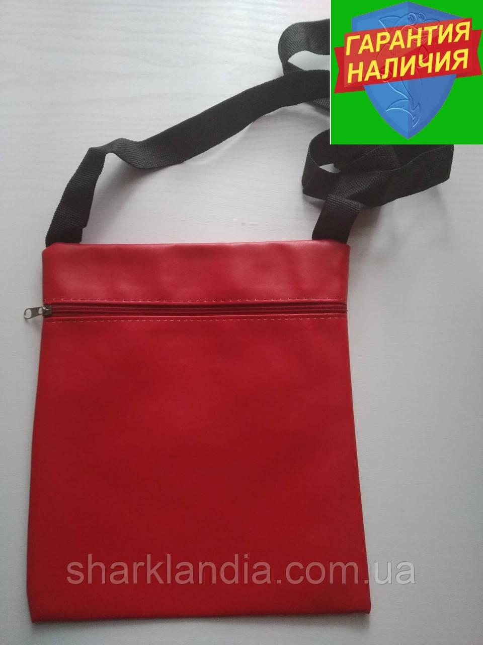 Стильная детская сумка с внешним карманом Кожзам Презент