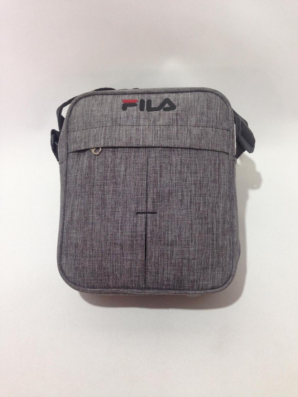 Мужская барсетка в стиле Fila, сумка через плечо 3 отделения