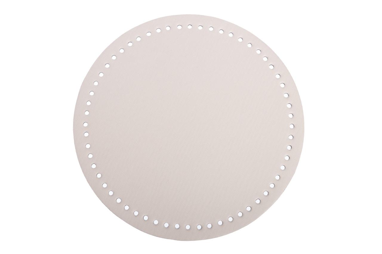 Донышко круглое для сумки экокожа Молочное Ø 22 см