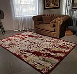 Тонкий красный ковер из вискозы колекция модерн, фото 2