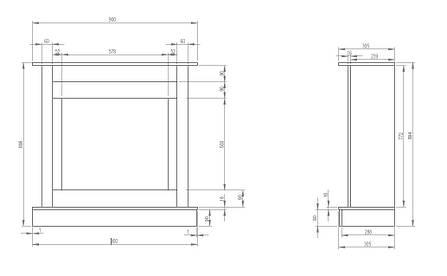 Каминокомплект AFLAMO VIGO БЕЛЫЙ ДУБ + LED 60 3D, фото 2