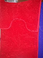 Набор ковриков в ванную и туалет с вырезом ROOM MAT 2 в 1 Микрофибра антискользящий красный