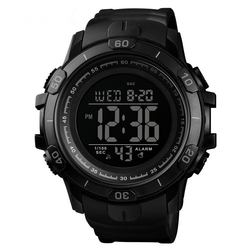 Skmei 1475 чорні чоловічі спортивні годинник