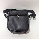 Мужская барсетка, сумка через плечо 3 отделения, фото 6