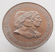 Фолклендские острова 50 пенсов 1981 - Свадьба Принца Чарльза и Леди Дианы