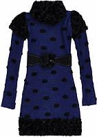 Платье для девочки трикотажное синие Marions (размер 164)