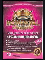 """Клей  для шпалер """"Momental"""" ІНДИКАТОР*200г (для всіх видів шпалер, усилений ПВА."""