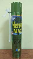 Піна монтажна Hercul MAX 850мл (вихід 65л) всесезонна однокомпонентна -10 +30