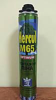 Піна монтажна Hercul,М65 ПРОФ OPTIMUM 850мл (вихід 65л) всесезонна однокомпонентна -10 +30