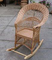 Плетеноя кресло качалка из екологической лозы