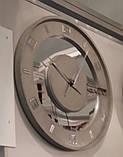 БЕТОННІ ГОДИННИК LORI mirror, 64 см, Agara, фото 5