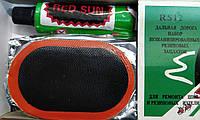 Набор латок Red Sun RS12 для ремонта авто и вело камер 12 штук с клеем (70мм * 45мм)