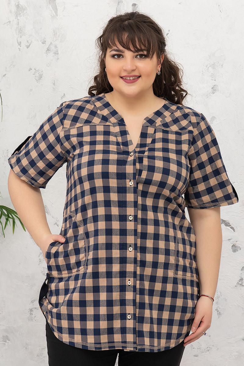 Рубашка женская большие размеры от 52 до 66
