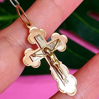 Хрестик з білого золота 19884