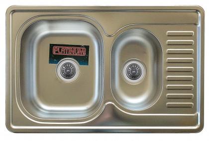 Мойка из нержавеющей стали 08мм Platinum 7850D  decor