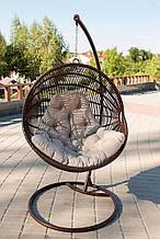 Підвісне садове крісло гойдалка кокон крапля куля плетене з ротанга Українські Конструкції Аріель / Ariel