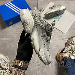 Мужские кроссовки Adidas Originals Torsion X ash Silver (серые)