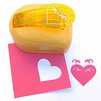 Дырокол фигурный Сердечко  3D