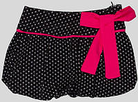 Юбка для девочки серая в белый горох  Marions (размер 110)